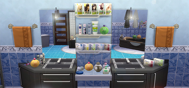 Bathroom clutter & products - TS4 CC preview