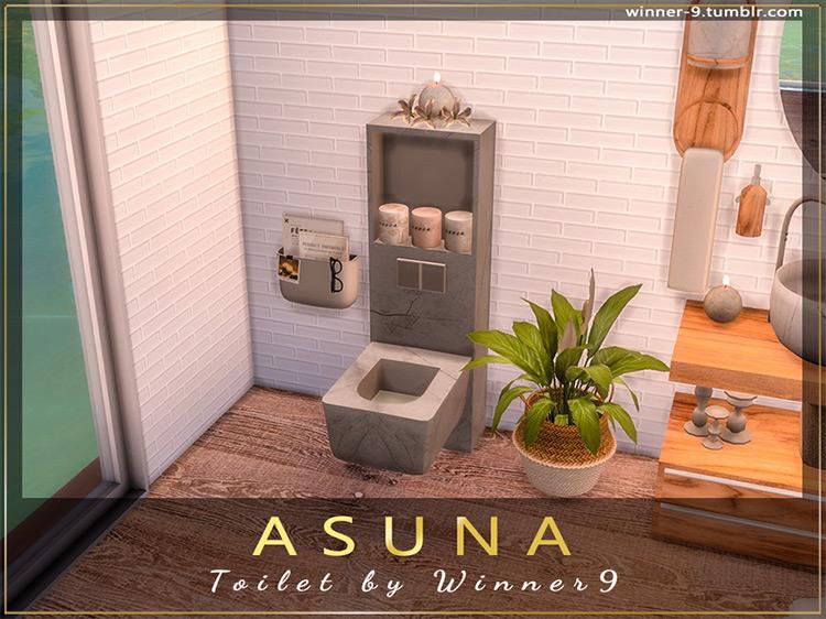 Asuna Toilet Sims 4 CC