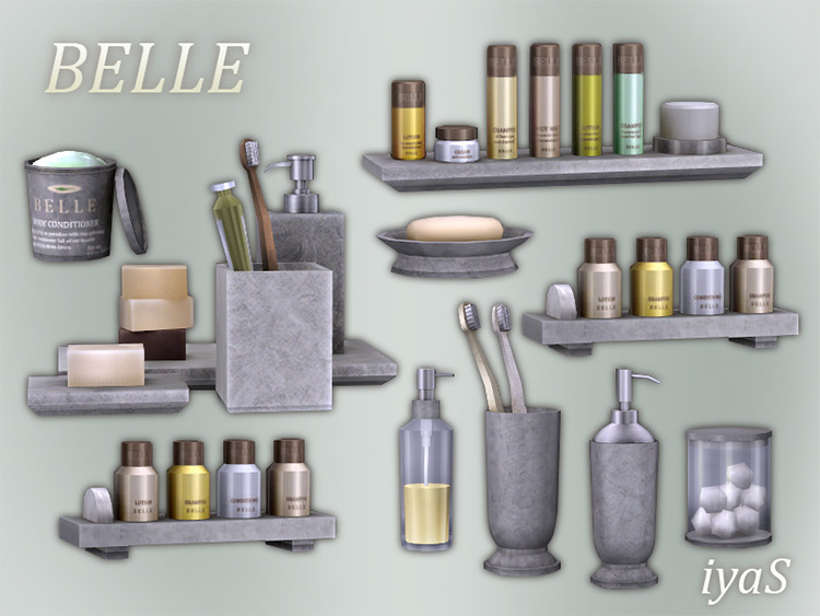 Belle Cosmetics Set CC for Sims 4