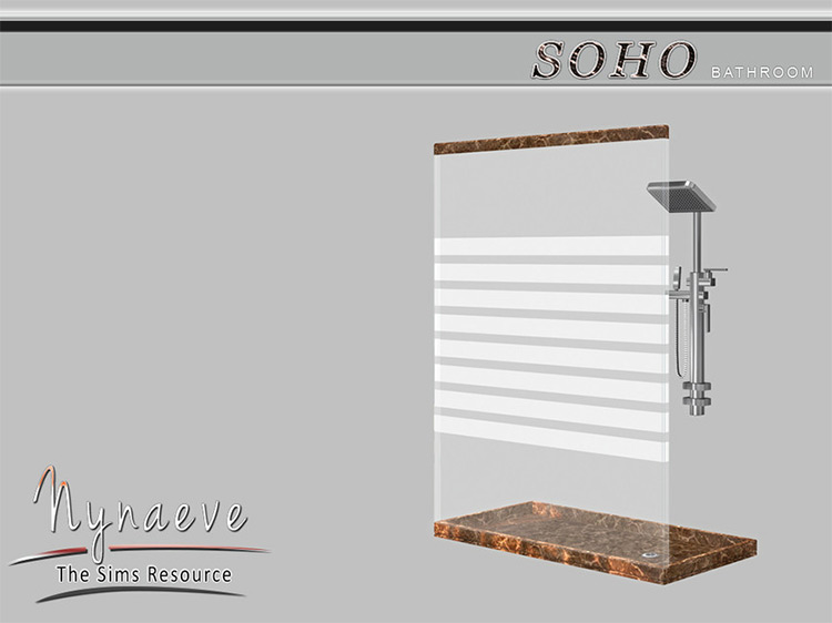 Soho Shower CC for Sims 4