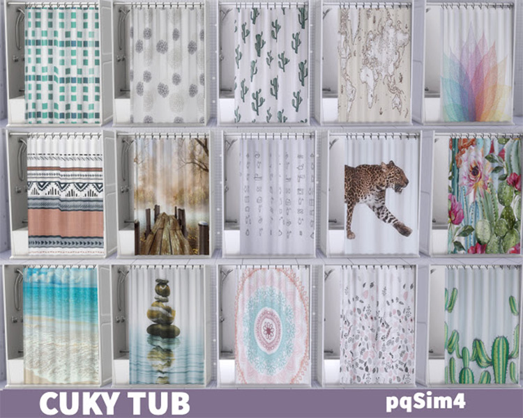 Cuky Shower Curtains Sims 4 CC