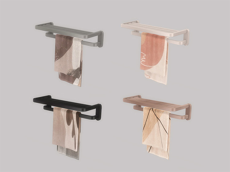 Towel Rack Holder CC Sims 4