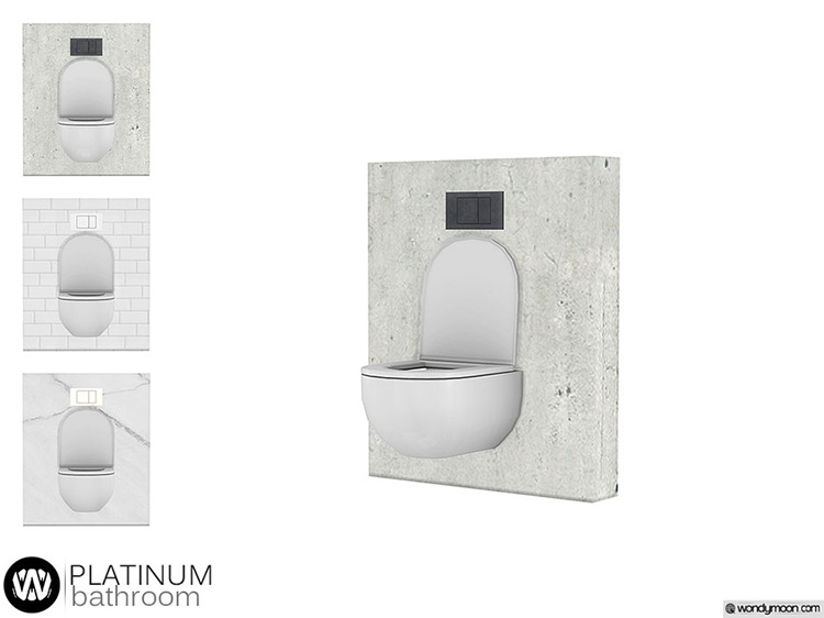 Platinum Toilet CC for Sims 4