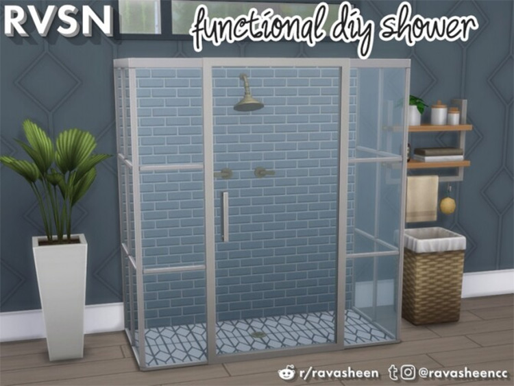Keep it Clean DIY Shower Sims 4 CC