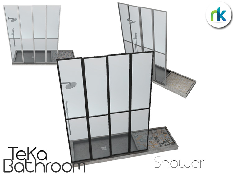 TeKa Shower Sims 4 CC