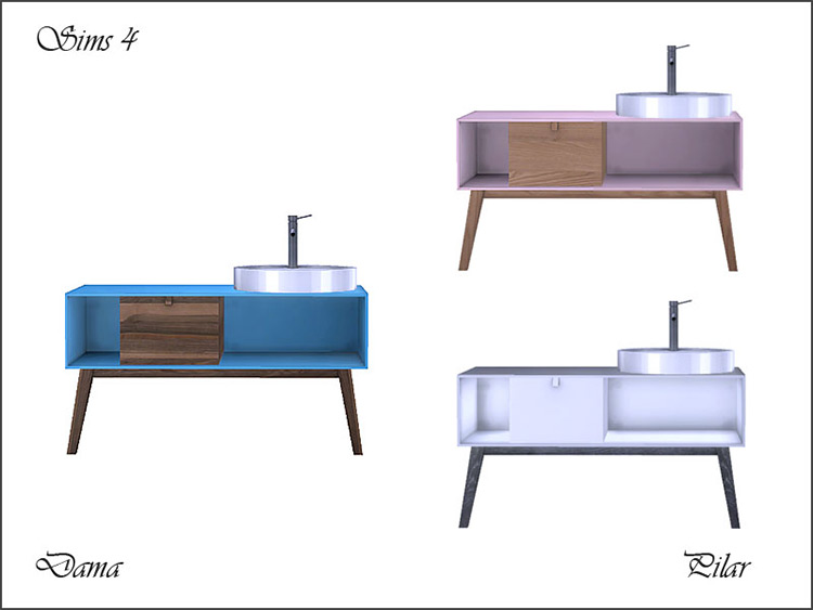 Dama Sink CC for Sims 4