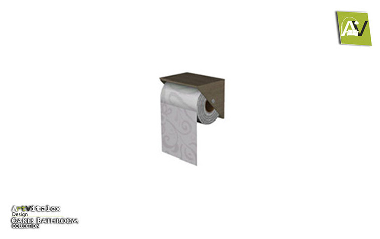 Oakes Toilet Paper Holder Sims 4 CC