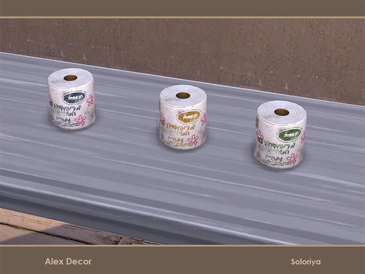 Alex Décor Toilet Paper Sims 4 CC