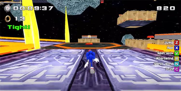 Sonic World ROM hack screenshot