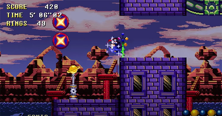 Sonic Time Twisted ROM hack screenshot