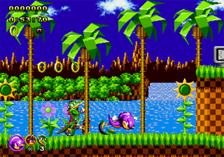 Sonic Classic Heroes ROM hack screenshot