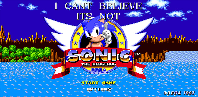 I Can't Believe It's Not Sonic 1 ROM hack