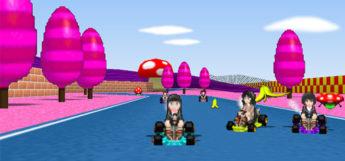 Amagami Mario Kart 64 ROM hack screenshot