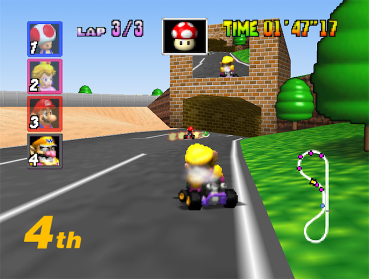 CPUs Use Human Items ROM hack for Mario Kart 64