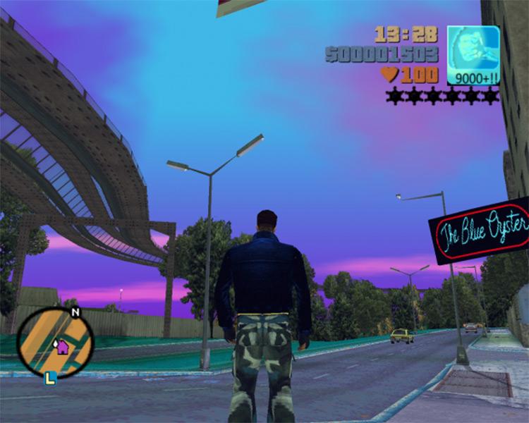 Vaporwave Mod Grand Theft Auto III