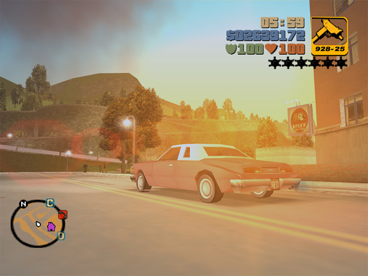 Vehicle Cam GTA III mod