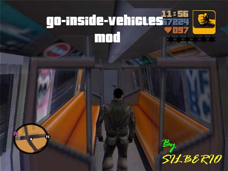 Go-Inside-Vehicles GTA III mod