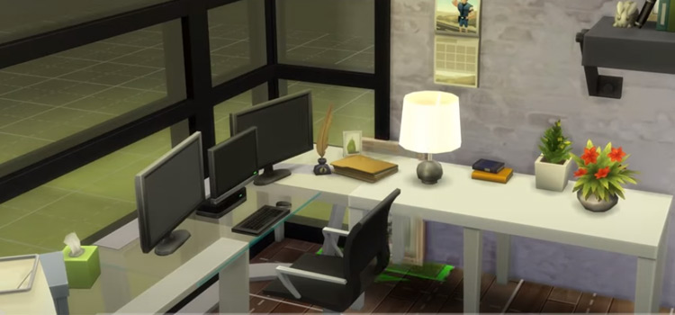 Sims 4 Home Office build - preview screenshot