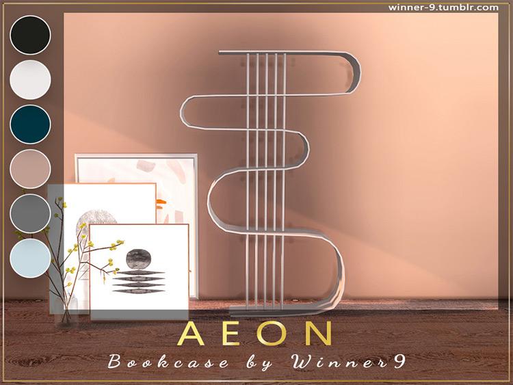 Aeon Bookcase - TS4 CC