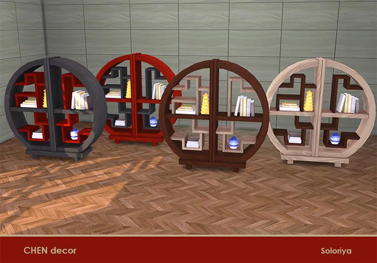 Chen Office Bookcase - Sims 4 CC