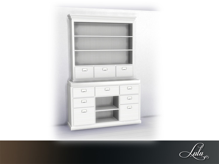 His & Hers Home Office Wall Unit - Sims 4 CC