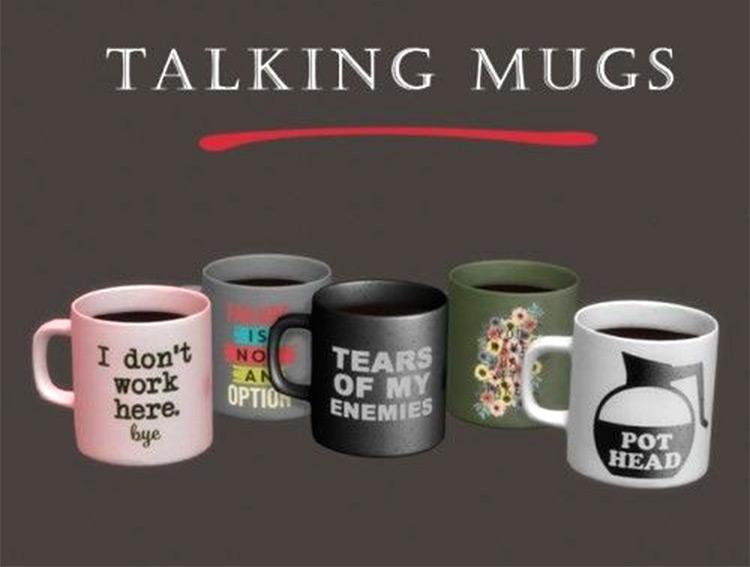 Talking Mugs TS4 CC