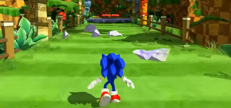 Sonic Generations cel-shaded mod screenshot