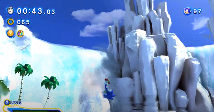 Dynamic White World Effect for Sonic Generations