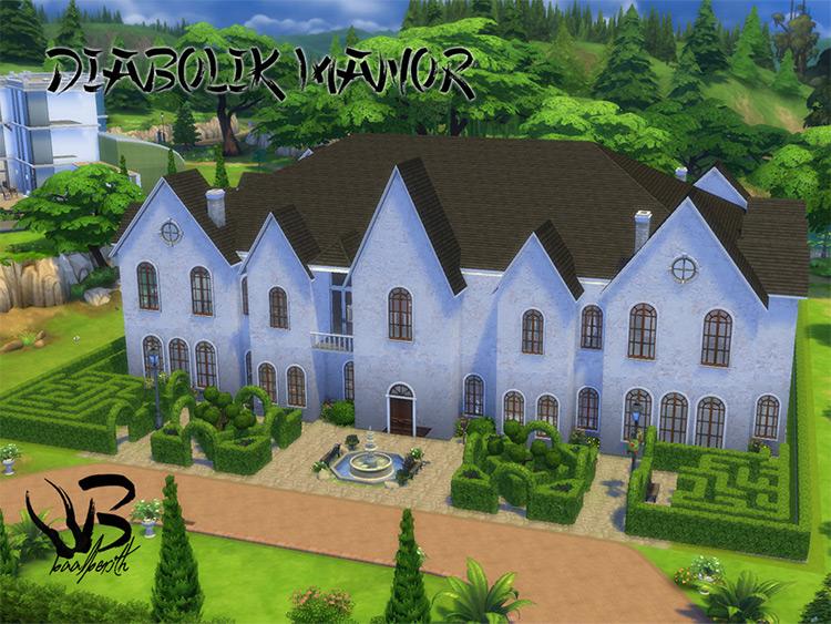 Diabolik Manor - Sims 4 CC