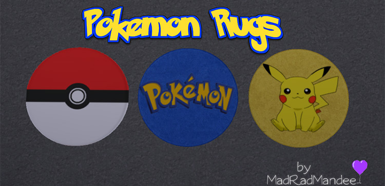 Pokémon Rugs - Home furniture decor - Sims 4 CC