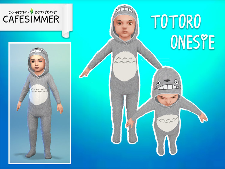 Totoro Onesie - Sims 4 CC