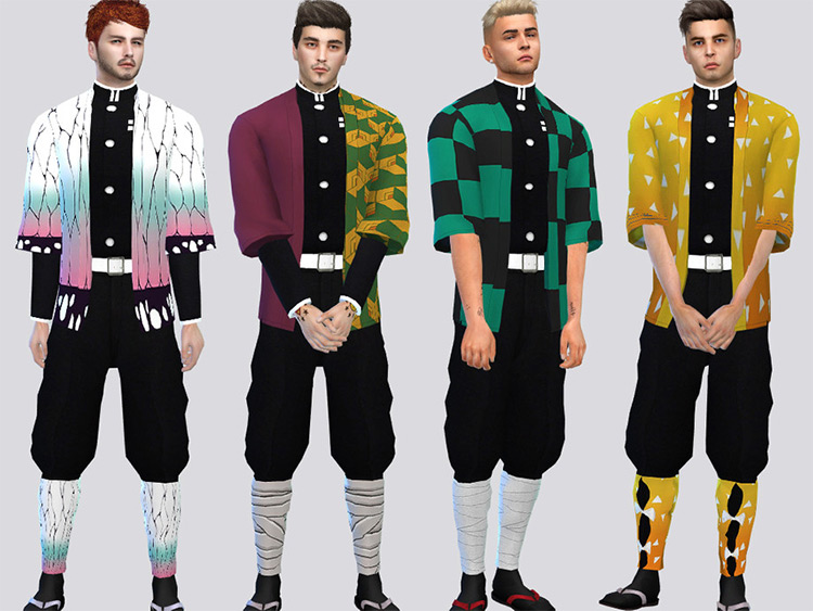 Yaiba Costume Set - Sims 4 CC