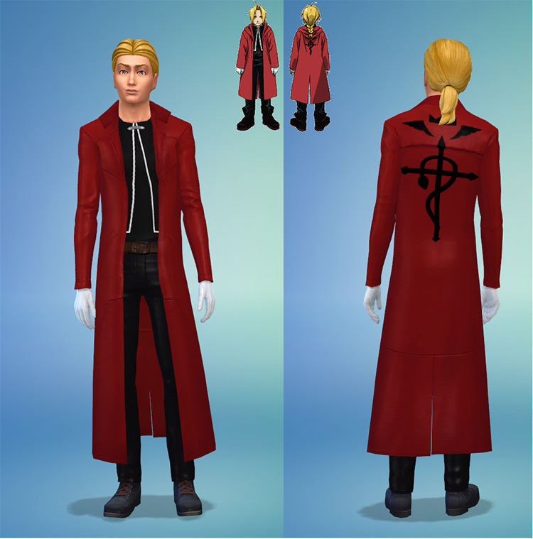 Ed Elric Fullmetal Alchemist Outfit - Sims 4 CC