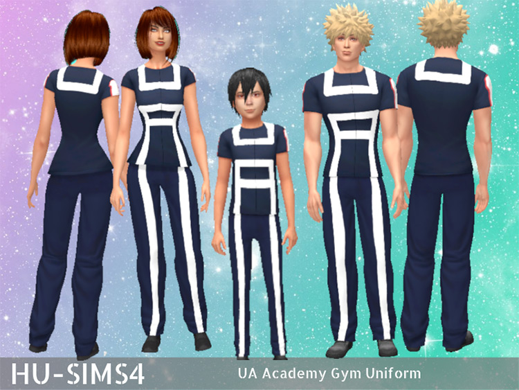 My Hero Academia Gym Uniform - Sims 4 CC