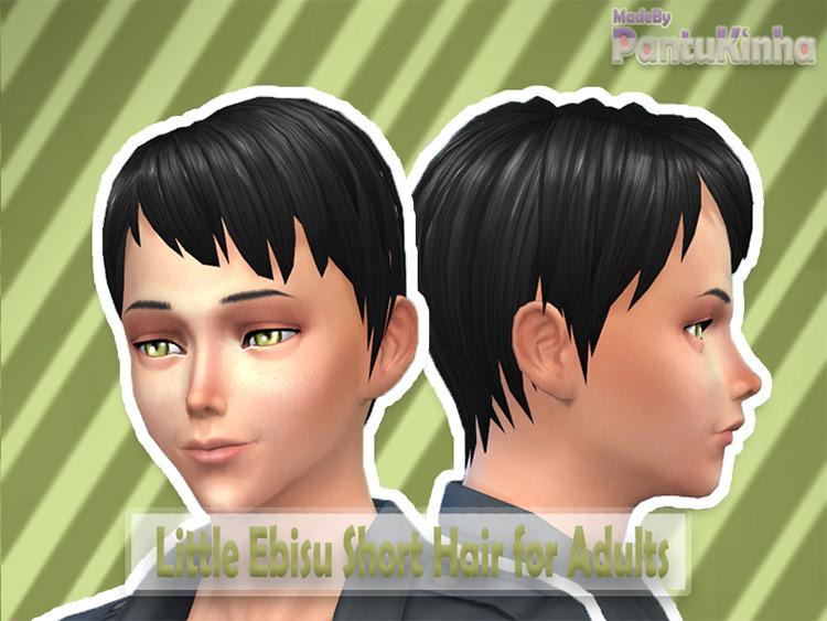 Ebisu Short Hair - Anime Hair Sims4 CC