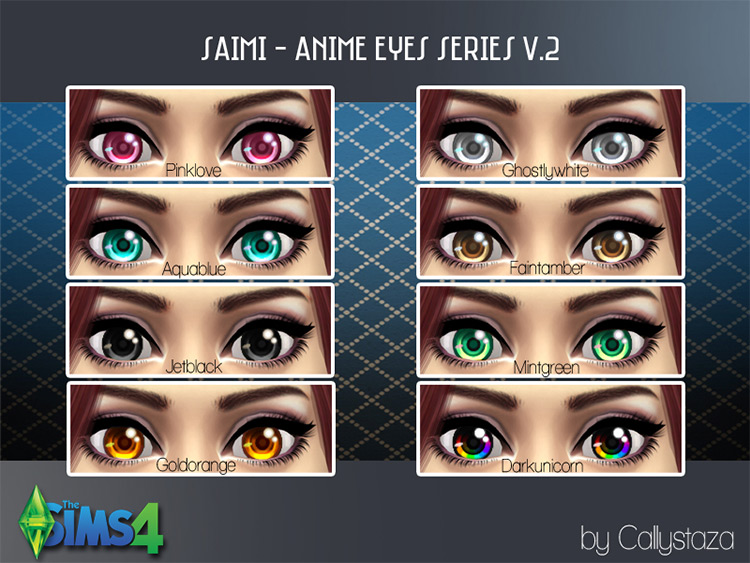Saimi Anime Eyes - Sims 4 CC