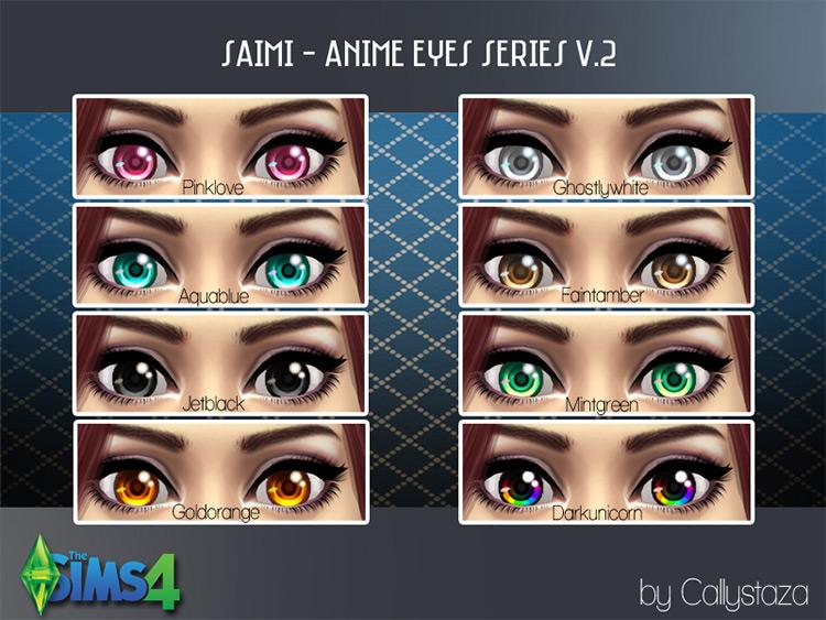 Saimi Anime Eyes - Sims 4 CC