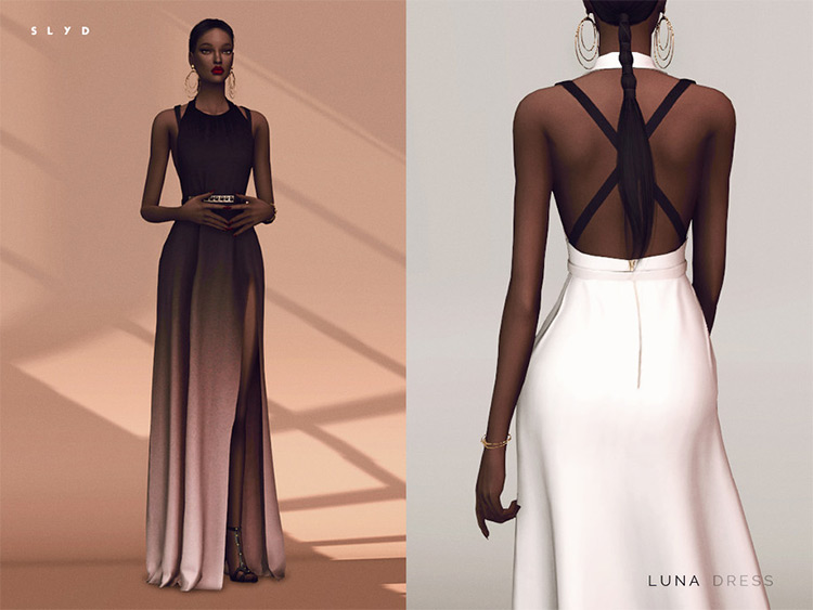 Luna Dress ready-made gown for prom - Sims 4 CC