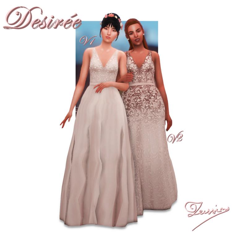 Desirée Dresses - Sims 4 CC