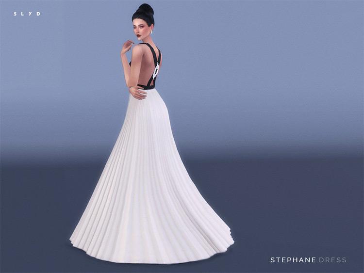 Stephane Dress, Li Bingbing red carpet CC for Sims 4