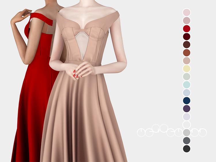Jil Sander Dress - Prom Sims 4 CC