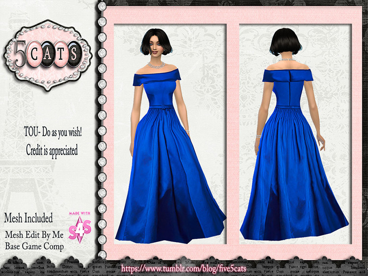 Reem Arca Off-Shoulder Ball Gown - Prom Dress - TS4 CC