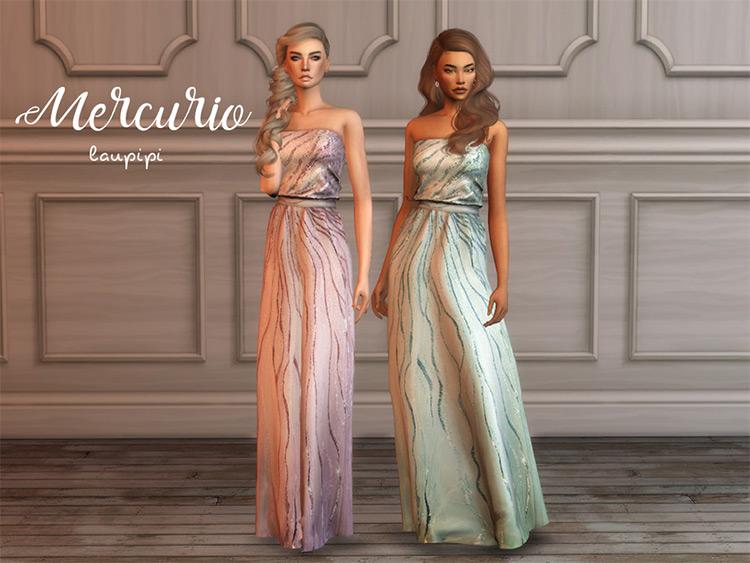 Mercurio prom dress - TS4 CC
