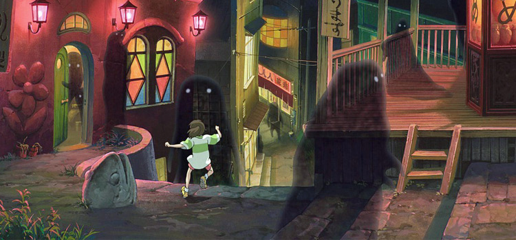 Spirited Away Ghibli ghost town screenshot