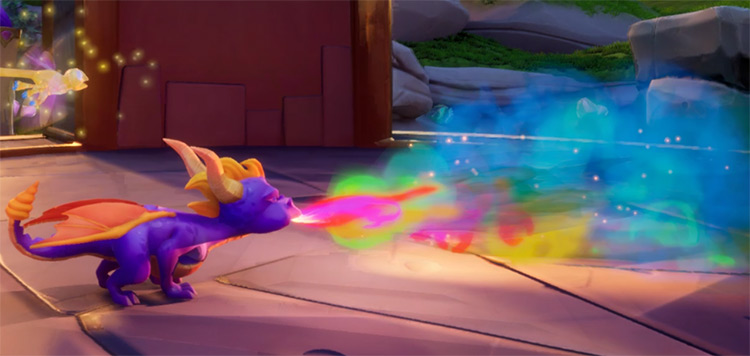 Rainbow Flame Breath Spyro Reignited Mod