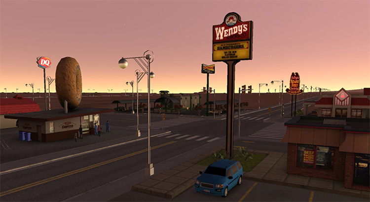 All American Fast Food Wendy's buildings - Cities XXL Mod