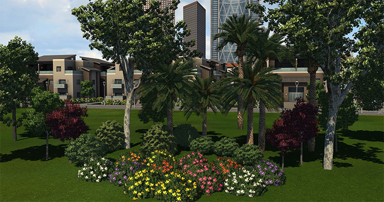 Monty's Trees, Flowers and Bushes - Cities XXL Mod