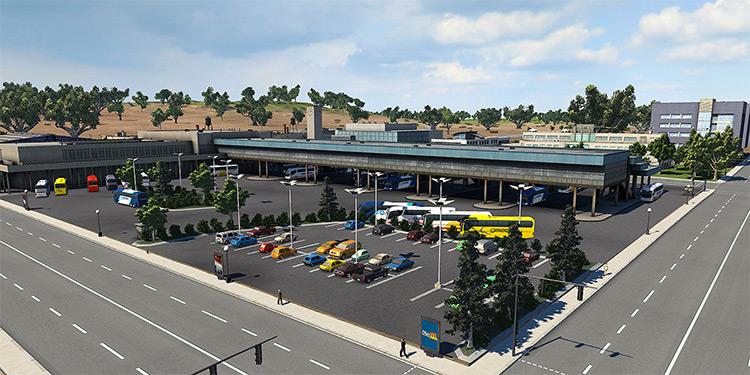 Intercity Bus Terminal - Cities XXL Mod