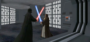 Star Wars Jedi Academy - lightsaber battle screenshot