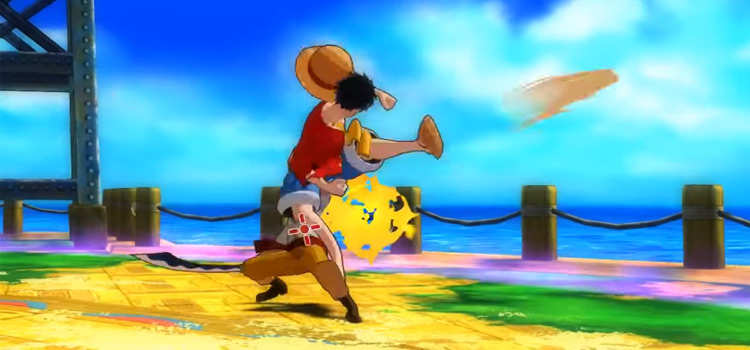 One Piece: Unlimited World Red - Luffy battle screenshot
